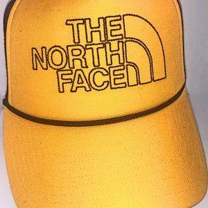 The Northface stitch yellow trucker hat